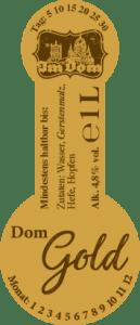 Etikett Doms Gold