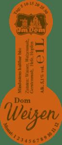 Etikett Doms Weizen